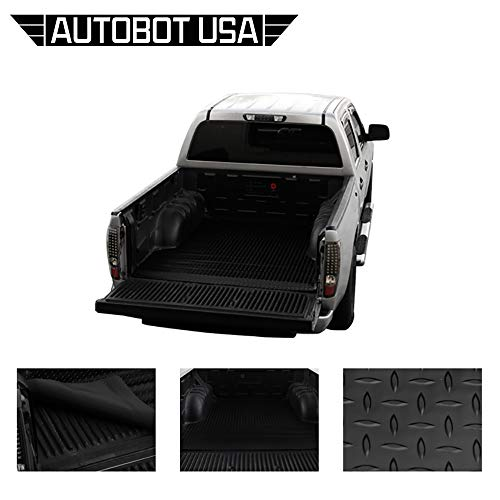 Autobotusa Black Finished Fleetside 8 Ft Long Truck Bed 1999-2007 for GMC Sierra 1500/1500 HD / 2500/2500 HD / 3500 Rubber Diamond Floor Mat Carpet