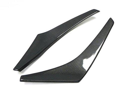 For MITSUBISHI Evolution Evo 8 Va Style Carbon Fiber Front Bumper Canard Lip Splitter Fin Valance Chin Exterior Kit 2pcs