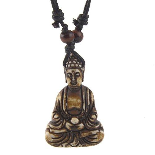 HZMAN Vintage Tibetan Amitabha Buddha Pendant Buddhist necklace