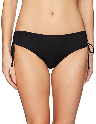 COCO REEF Women's Classic Solids Smooth Curves Bikini Bottom, Castaway Black, (Womens Clothing : Swimwear Reef)