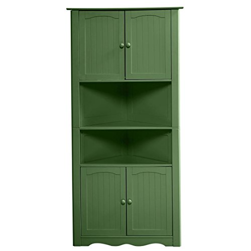 Brylanehome Country Kitchen Corner Cabinet (Green,0) (Corner Shelf Cabinet)