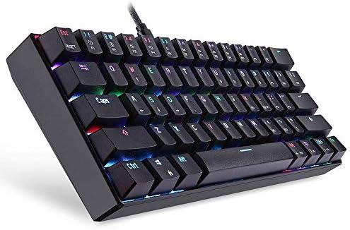 ゲーミング キーボード 61キーNKRO RGB Kailh BOXスイッチ着脱式-Cメカニカルゲーミングキーボード メカニカルキーボード (Color : Black, Size : One size)