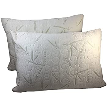 Amazoncom 2 Pack Miracle Bamboo Pillows Memory Foam Pillow Soft