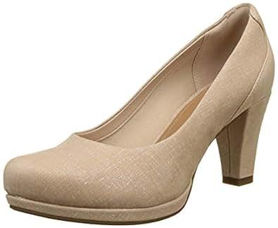 Clarks Chorus Chic, Zapatos de Tacón Mujer, Beige (Nude Interest), 35.5 EU