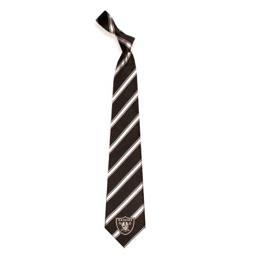 Eagles Wings Oakland Raiders Woven Polyester Tie