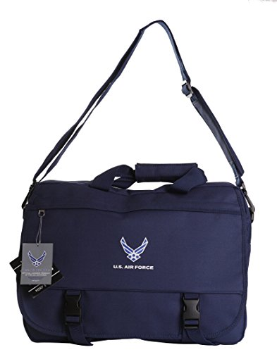 (US Military Official Licensed Army Navy Air Force Laptop Messenger Bag (US Air Force)