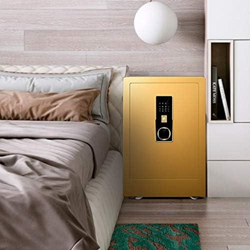 パーツボックス 安全な45センチメートル指紋ロック解除デザインのベッドルーム見えないベッドサイドテーブルオフィスミニ金庫ホームプライバシーアイテムクリスマスのギフト (Color : Gold, Size : 38*32*45cm)