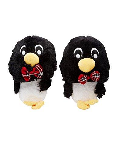 Zapatilas con suela de agarre para casa, diseño de perro carlino pingüino