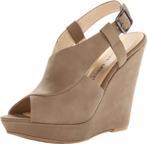Chinese Laundry Womens Mindy Wedge Sandal Taupe