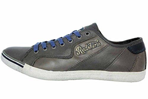 Sneaker L'uomo In Blu L'alto Pelle Verso Grigia Redskins Scarpe Moda EcWxqyUC