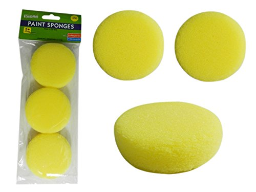 PAINT SPONGES 3PC 2.75''D , Case of 96
