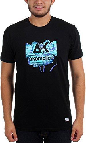Camiseta Akomplice amapola brillante logo con negra de drTqrf
