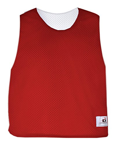 Red/White Adult S/M Reversible LAX Practice Jersey Pinnies ()