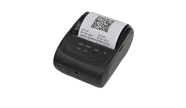 GzPuluz POS-5802 Impresora de Recibos Bluetooth de línea térmica ...