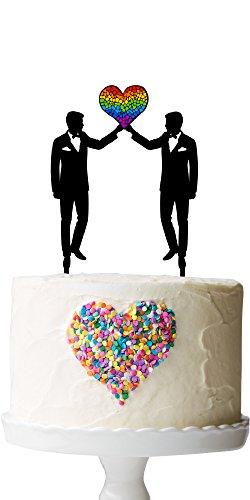 Groom Rainbow Wedding Topper Unicorn product image