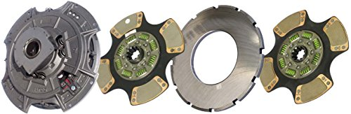 """IATCO 107334-64-IAT 14"""" x 2"""" Angle Spring Clutch (Two-Plate, 4-Paddle / 8-Spring, 3200 Plate Load / 1150 Torque)"""