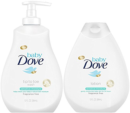 (Baby Dove Sensitive Moisture Bundle: Tip to Toe Wash and Lotion, 13 OunceEach)