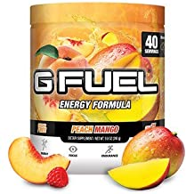 G Fuel Peach Mango Tub (40 Servings) Elite Energy and Endurance Formula