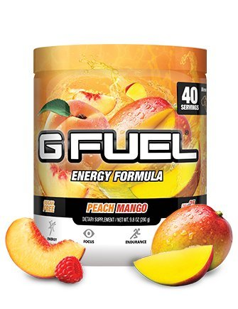 G Fuel Peach Mango Tub (40 Servings) Elite Energy and Endurance Formula (Fuel Drink Energy)