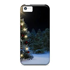 New Arrival Premium 5c Case Cover For Iphone (snowman Christmas Tree)