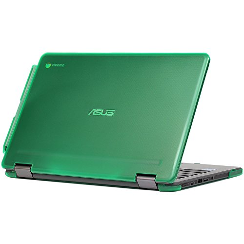 mCover Hard Shell Case for 11.6-inch ASUS Chromebook Flip C213SA Series Laptop - Green