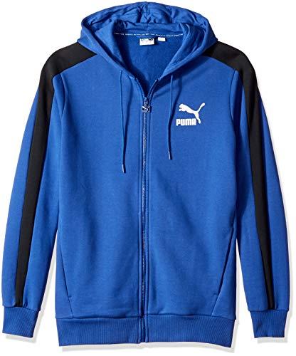 Hoody Sweatshirt Classic Blue Logo - PUMA Men's Classics T7 Logo Full Zip Hoody, Sodalite Blue, L