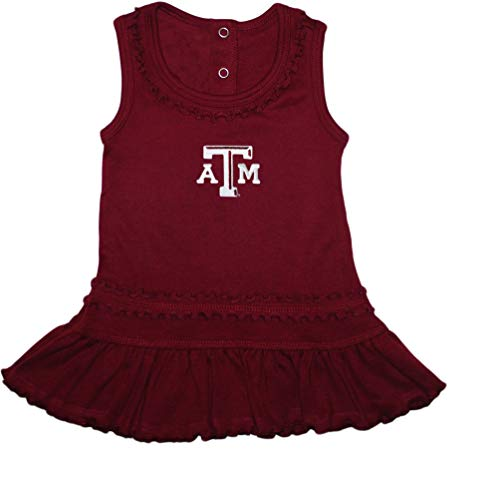 Creative Knitwear Texas A&M Aggies Ruffled Tank Top Dress with Bloomer Set, Maroon, 0-3 Months