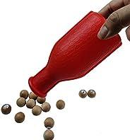 BALIKEN Billiard/Pool Plastic Talley Shaker Bottle with Peas/Balls (Kelly/Pill Pool)
