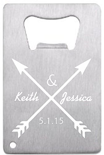 Customized Wedding Favor Credit Card Opener Personalized For Guests Solid Arrows 150 pieces