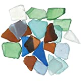 Bulk Buy: Darice DIY Crafts Sea Glass in Mesh Bag Multicolor Rainbow Mix 1lb (3-Pack) 1140-67