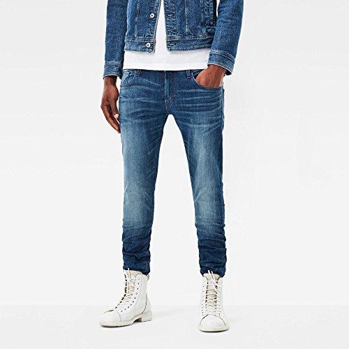 star medium G Jeans Raw Aged 6028 Homme Indigo Bleu 8968 drFXFwq