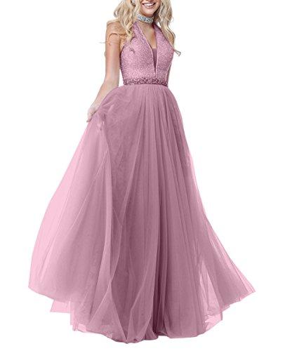Rosa Promkleider La Abendkleider A Pailletten Langes Dunkel Brau Tuell Festlichkleider mia Bodenlang Partykleider Ballkleider Linie wBxPw6