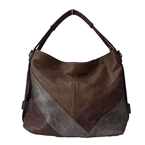 - Chikencall Women's Classica Colorblock Hobo Bag Multicolor Totes Handbag and Purses Patchwork Leather Shoulder Bags