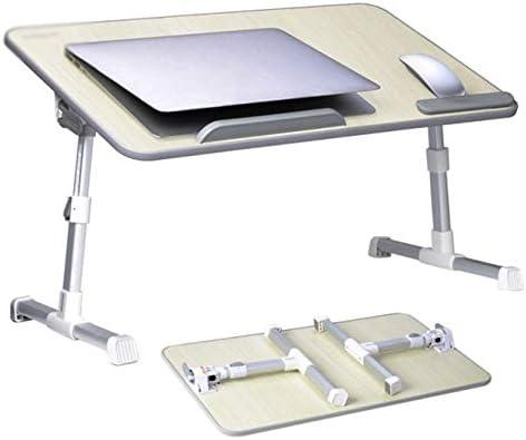 折りたたみテーブル 自動回転多機能ラップトップベッドコンピューターデスクファンアルミ合金ポータブル折りたたみテーブルスタンド、コンピューターラップトップスタンド、ベッドトレイ、ノートパソコンラップトップ軽量 ベッド、ソファ、オフィスに最適