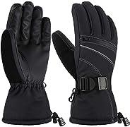 Andake Ski Gloves for Women, 3M Thinsulate Warm Gloves, Touchscreen Winter Gloves, Waterproof Membrane Layer &
