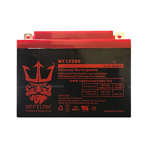 - 12V 26AH Replacement for NP24-12B PC26-12NB NPS24-12S Battery by Neptune