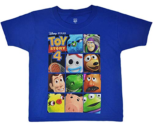 Toy Story Boy's T-Shirt Buzz Lightyear and Woody Print Toddler (Royal Blue, 2T)]()