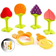 Baby Teething Toys for Newborn Infants (6-Pack) Freezer Safe BPA Free Infant and Toddler Silicone Teethers Soothe Babies Gums, Perfect Baby Shower Gift