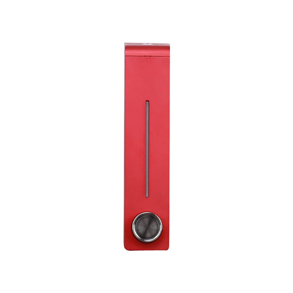 Tian 305ml Single Head Bathroom Free Punch Soap Dispenser Bathroom Shampoo Shower Gel Box Wall-Mounted Hand Sanitizer Bottle (Color : Red)