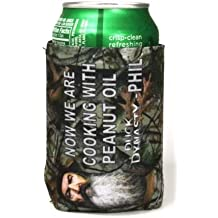 Duck Dynasty Officially Licensed Beer Can or Bottle Cooler Koozie - Several Styles Available - Uncle Si Phil (Collapsible Can - Phil - Now We're Cooking With Peanut Oil)