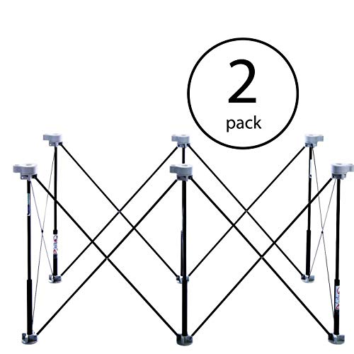 Centipede Tool K100 6 Strut Expandable 2 x 4 Foot Portable Sawhorse Work Support (2 Pack)