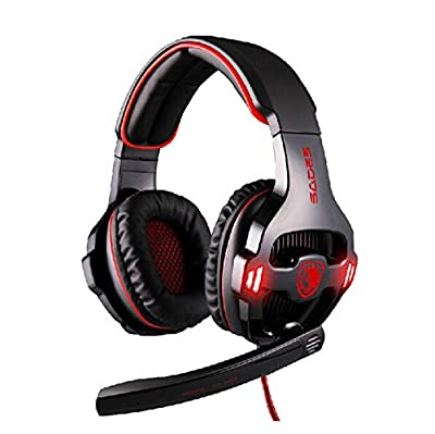 Sades SA-903 7.1 Surround Sound Effect USB High-fidelity Stereo Gaming Headsets Headphone with Mic - Black