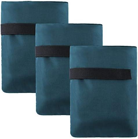 [해외]Teemico 3팩 아웃도어 수도꼭지 커버 양말 수도꼭지 냉동 보호 양말 겨울 7.3 5.9인치 / Teemico 3 Packs Outdoor Faucet Cover Socks Faucet Freeze Protection Socks Winter, 7.3 5.9 Inch (Tibetan Green)