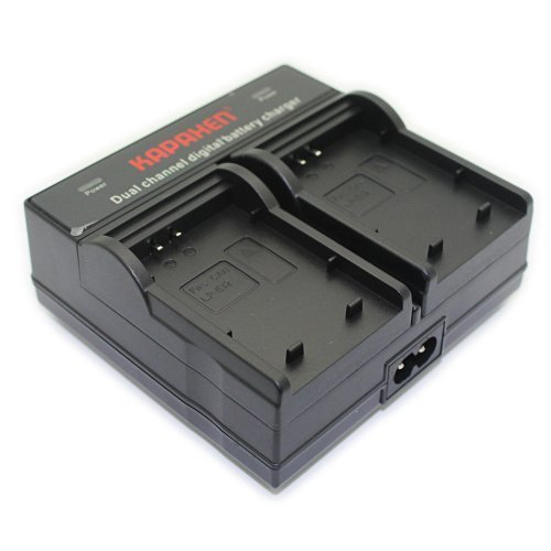 Kapaxen Dual Channel Battery Charger for Canon LP-E12 Camera Batteries