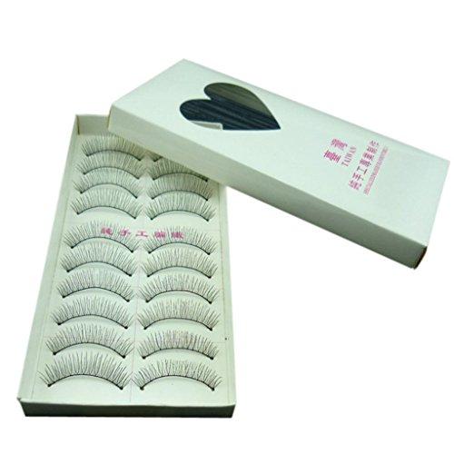 NewKelly 10 Pairs Natural Fashion Eyelashes Eye Makeup Handmade Long False Lashes Sparse