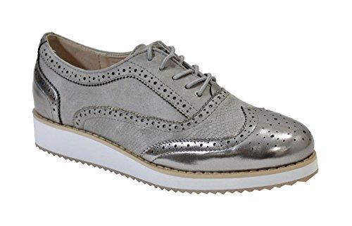 By Shoes - Zapatos de cordones para Mujer gris