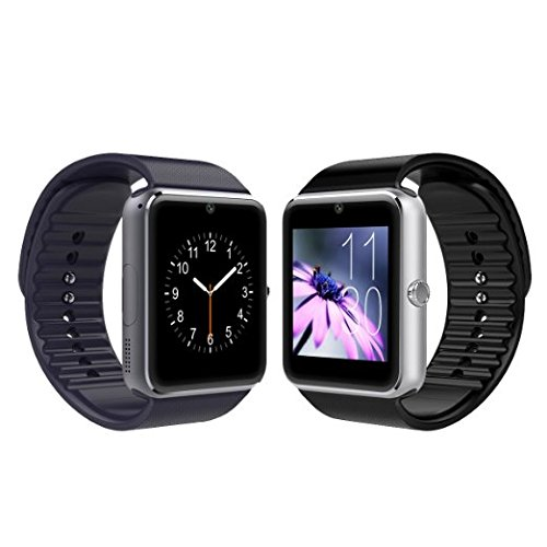 UPC 604753223787, Sunflower Gt08 Bluetooth Smart Watch with Camera and Sweatproof Wristwatch Phone for Android and IOS Smartphone (Silver)