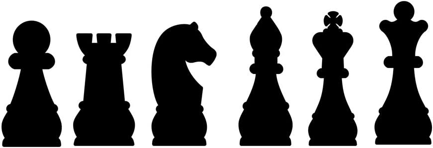 Home Find Chess Wall Decal Chess Player Chessmen Set Wall Vinyl Playroom Decor Chess Board Wall Stickers Chess Club Decor Chess Game Decal Peel and Stick for Homes 22.8 inches x 7.9 inches