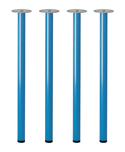 IKEA ADILS Table Leg - SET of 4 - Steel, Blue