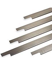 Griffleiste SLIM 145-1195 mm Edelstahloptik gebürstet (Harpunenensteg)